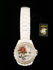 Ed Hardy Rose Watch - White - Old stock w/ tags quartz FXWH2201