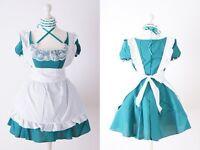 z-02 gr S M L talla única verde Grabado Chica Servicio Cosplay Vestido Traje