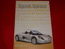 RENAULT Sport Spider Prospekt von 1997