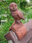 Owl roof finial half round decorative ridge tile stone ornament 45cm/17