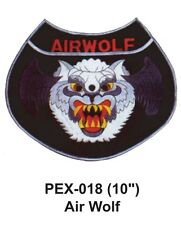 """AIR WOLF Embroidered Military Extra Large Patch (10"""")"""
