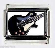 GUITAR Gibson electric 9mm Italian PHOTO CHARM charms for Modular link Bracelets