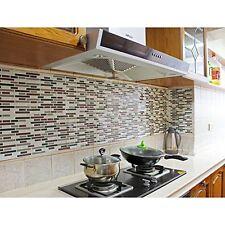 Vinyl Peel and Stick Decorative Backsplash Kitchen Tile-pack of 4 Sheets, New