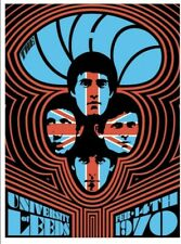 The Who 1970 Leeds #2 Ames Bros Glow in Dark Signed Limited Edition 122/165