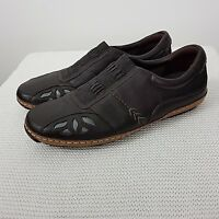 K by Clarks Shoes Slip On Leather Brown Size UK 5 Comfort