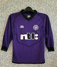 VINTAGE CELTIC FC SCOTLAND FOOTBALL SHIRT SOCCER JERSEY LONGSLEEVE YOUTH SIZE S