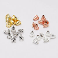 200pcs 5*6mm Earring Backs Stopper Blocked Caps for DIY Ear Accessories Findings