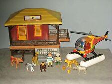 Centre vétérinaire/animaux sauvages - Playmobil 4826 -singe/zebre/rhinoceros