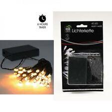 LED Lichterkette 40er Warmweiss innen und Aussen mit Timer