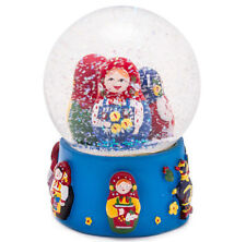 "Nesting Dolls Snow Globe. 3.5"" tall Snowdome with Russian Dolls"