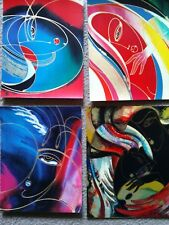 4 SMALL ABSTRACT SERIGRAPHS ON PAPER - PROOFS NOT SIGNED MARTIROS MANOUKIAN