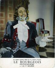 *Robert Manuel Le Bourgeois Gentilhomme spectacle filmé photo cartoline vintage