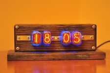 IN-12 Nixie Tube Retro  Clock Assembled Tested Wooden Case Adapter 110/240V