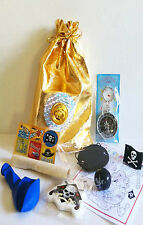 Pirate loot/party bag with 9 items inside, great value