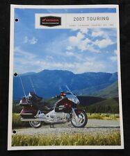 2007 HONDA DEALER TOURING MOTORCYCLE ACCESSORIE CATALOG GOLD WING ST1300 SCOOTER