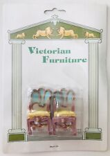 Miniature Resin Whimsical Victorian Dollhouse Furniture Fairy Garden 2 Armchairs