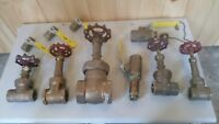 Brass Ball and gate Valves lot of 10 1-1/2 down to 3/8""
