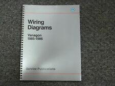 1985 1986 Volkswagen Vanagon Electrical Wiring Diagram Manual L GL Camper Syncro