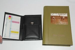 Golf Package  - JOURNAL, HIP FLASK in WALLET - Ideal Birthday or Xmas present