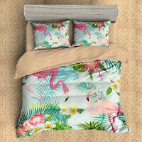 Flamingo Single/Double/Queen/King Bed Quilt Doona Duvet Cover Set Pillowcase