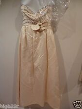 Vintage Victoria Royal~Ivory~Sequin~Wedding Gown + Shawl Bridal Dress~sz 8