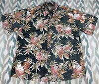 Cooke Street Honolulu Men's Hawaiian Button Front Short Sleeve Shirt Size XL