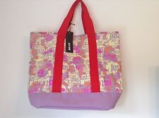 BNWT 100% Auth Just Cavalli Large Tote / Beach Handbag With Logo Print  RRP £159