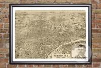 Vintage Newark, NJ Map 1895 - Historic New Jersey Art - Old Victorian Industrial