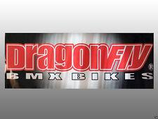 "Dragon Fly BMX Bike Banner 39""x13.5"" Printed Two Sides"