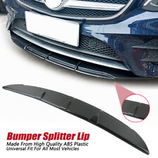 Carbon Fiber Car Universal Front Bumper Splitter Diffuser Lip Body Kit Spoiler