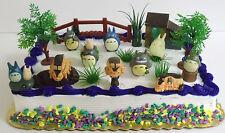 Totoro 20 Piece Cake Topper Set-Catbus Satsuki Kusakabe Mei Tatsou Yasuko Kanta