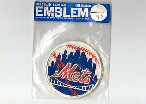 """Vintage Early 1970s MLB NY New York Mets 3"""" Patch Sealed in Original Packaging"""