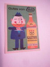Edeka - Gaston Weinbrand - Deutscher Weinbrand / Streichholzetikett