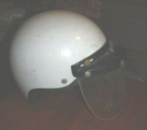 VINTAGE BELL TRIALS MOTORCYCLE HELMET SIZE LARGE 7 3/8 MADE IN USA L@@K
