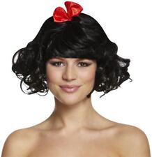 Adult Ladies Snow White Princess Wig Book Week Fancy Dress Fairytale Accessory