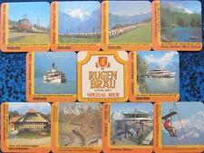 Bierdeckel Serie Sammlung - Schweiz - Rugenbräu Interlaken - 10 verschiedene