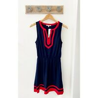 41 Hawthorn Flynn Colorblock Navy Blue And Red Sleeveless Dress Women's Size S