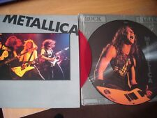 metallica interview picture disc interview red vinyl lp limited edition