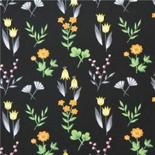 """100% Cotton Quilting Fabric Sold By The Yard 45"""" W Dear Stella Black Floral"""