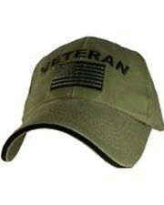 df8b2a07884 US ARMY Veteran - U.S. Army with Flag OD Green Baseball Cap Hat