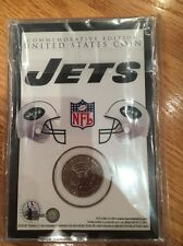 NY New York Jets Team collectible medallion coin Team Overlay with color