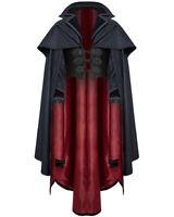 Punk Rave Mens Cloak Coat Jacket Blue Black Gothic Steampunk Aristocrat Vampire