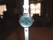 Womens Toykobay Wristwatch Double Dial Display Blue Face Nice Condition