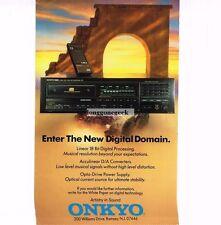 1988 Onkyo Integra CD Player Hi-Fi Stereo Vtg Print Ad