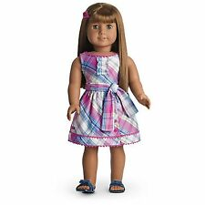 """American Girl MY AG PLAID PARTY DRESS for 18"""" Doll + Charm Retired Clothes NEW"""
