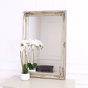 "Rhone Large Rectangle Wall Mirror - Living Room - 60x90cm 34""x36""- Champagne"
