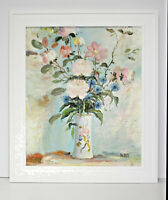Pink Floral Bouquet  20 x 24 Oil Painting on Canvas w/ Custom Frame