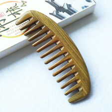Wood Comb Wholesale Handmade Green Sandalwood Wide Tooth Hair Comb  10pc In Bulk