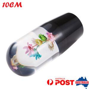 Universal Real Flowers Gear Shift Knob Shift Head Racing Crystal Multicolor 10CM