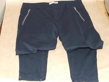 Authentic Stefanel Blue Stretch Workout Runners Pants w/ Zippers sz 8 Used Once